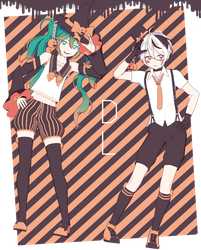 Cham Pumpkin Cuties Miku and V4Flower + DL by Darkivralii666
