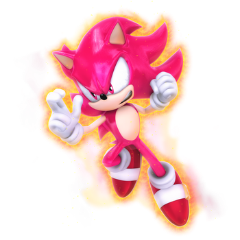 What if: Sonic as Super Saiyan Red by Nibroc-Rock