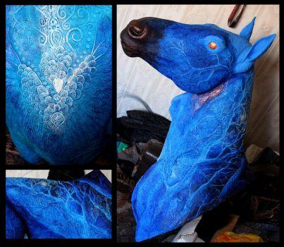 Year of the Blue Horse progress IV by hontor