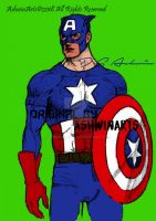 Comic Captain America (Gift) by AshwinArts
