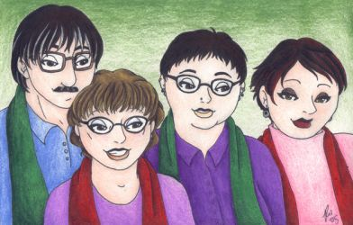 Pseudo Family Portrait. by rachelillustrates