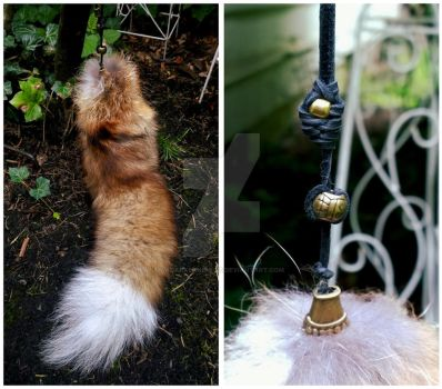 Red Fox Tail Charm by AdarkerNEMISIS
