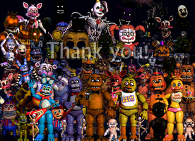 Five Nights at Freddy's Thank You Image Fan-Made by RoxasXIIkeys