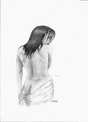 Modesty Sketch Version By #Art By Beverley Clarke by TheRavenPhotography