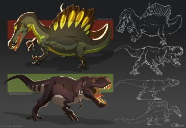Animation Styled Dinos by arvalis