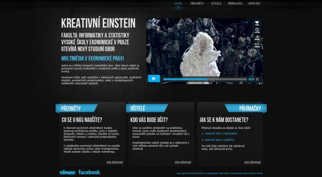 Creative Einstein promo web by drzack69