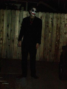 Old pic of me as Joker by JohnnyMuffintop