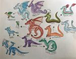 Creatures in the Dragon family - colored by Pteridium