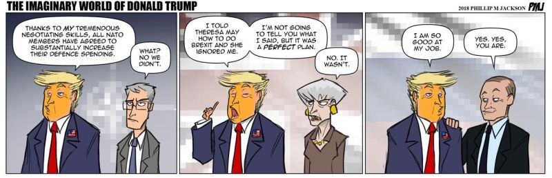 The Imaginary World Of Donald Trump by jollyjack