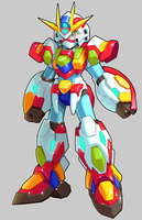 Commission: X And Burning Mirai Gundam Fusion by ultimatemaverickx