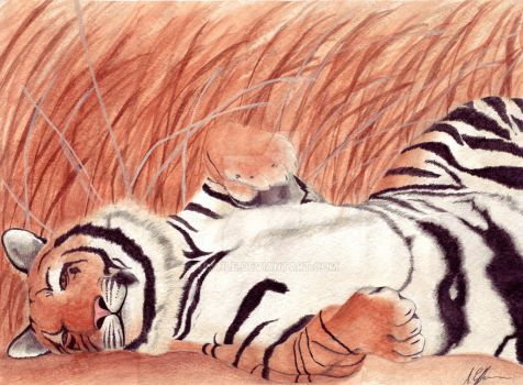 Sleeping Tiger by ArynLE