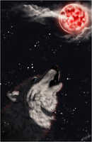 .: Red Moon :. by WhiteSpiritWolf