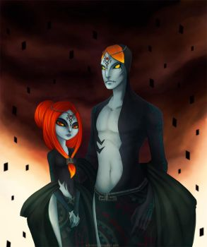 Midna's parents -young- by arbrenoir