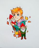 Matt with gnomes by Seirenen
