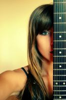 :Green and Guitar: by CaRa92