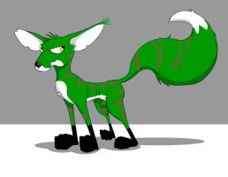 Green Fox by KennBaker