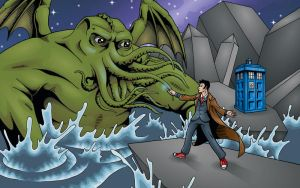 Cthulhu and the Doctor by JohnRaptor