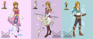 Link With Zelda Costumes (3 16 2018) by theskywaker