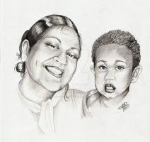 portrait of Val and baby by winstonscreator