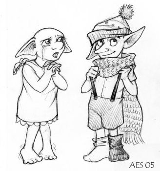 Dobby and Winky by laerry