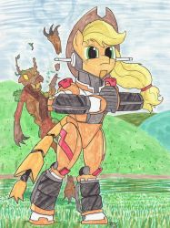 GEAR Fighter Applejack by EnigmaticThief
