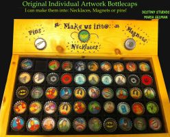 New Bottle Cap Display - close up 2 by Destinyknights