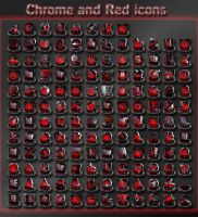 chrome and red icons by xylomon
