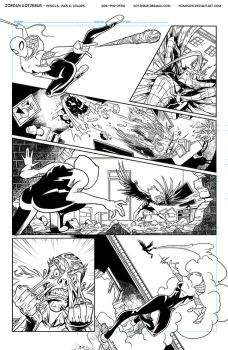 Spider-Gwen Inks Page 3 by Hominids