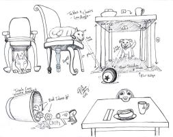 Draw Tables and Chairs by Diana-Huang