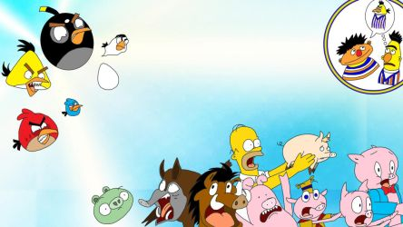Angry Birds vs the Pigs by finalverdict