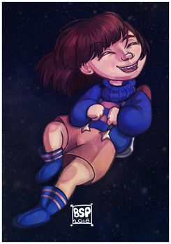 Outertale Frisk by Blustarpilot