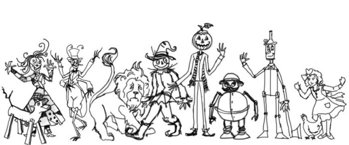OZ friends WIP by Sylent-Fantome