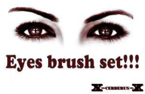 Eyes brush set by X-Cerberus-X