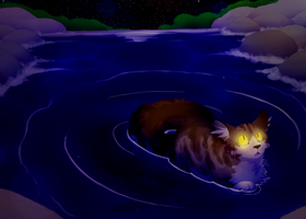 Leafpool's Moonpool by recovery-paws