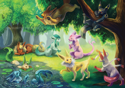 Eeveelutions by Endivinity