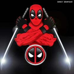 DEADPOOL design 2 with effects by KristSimpson
