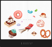 Pack Sweets 13 Png by Hanyu-Hi