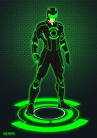 Green Lantern Tron costume by BloodySamoan
