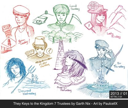 The Keys to the Kingdom 7 Trustees by Garth Nix by Paulcellx