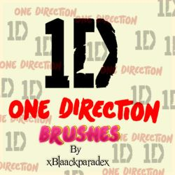 One Direction Brushes by xblaackparadex