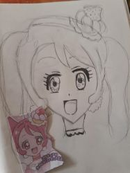 Cure Whip. Super quick doodle sketch by CatgirlLizzie1234