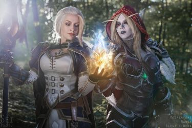 Jaina and Sylvanas - Azerite by Narga-Lifestream
