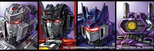 G1 Decepticons by GoddessMechanic