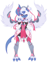 Com: Pink Absol by MetalPandora