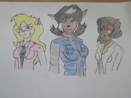 Girls from the SWAT Kats by CptDaniel