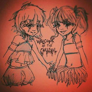 Creepy Carnival Twins by roseycrystals730