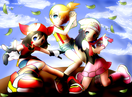 colored pkmn girls by watashiveracasan