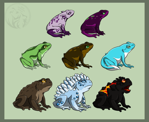 Frogs and Toads of AzureHowl by AzureHowlShilach