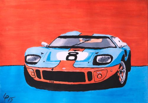 Gulf GT40 hommage by DwainDibley