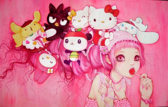 Hello Kitty Art Show by camilladerrico